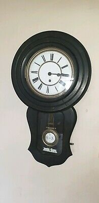 Antique American Styled Wall Clock With Enamelled Face , Lovely Clock