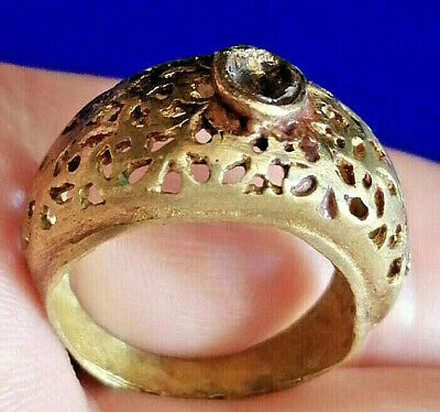 Gorgeous Romain Bronze Ring AMAZINGLY DECORATED RING ANCIENT