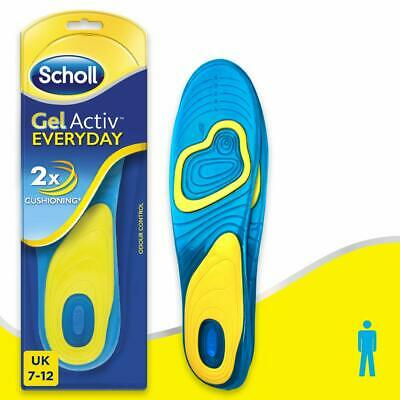 Scholl Gel Insoles for Men for Work, One Pair, Men's UK Shoe Size 7-12 - NEW