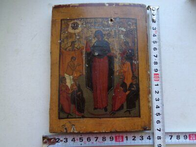 Antique icon of the 19th century icon joy of All who sorrow 100 % original