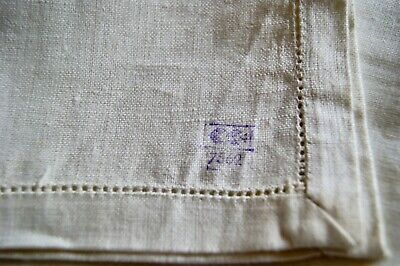 UNUSED VINTAGE CC41 UTILITY MARK UNBLEACHED LINEN TABLECLOTH For Home Emb T29