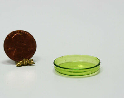 Miniature Artisan Green Glass Vanity Tray  by Glass Blower Phil Grenyer