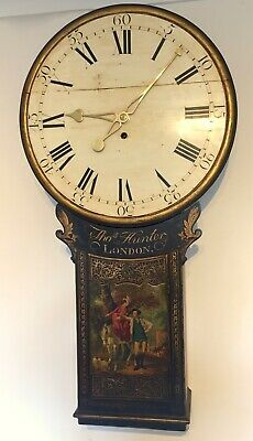 Small Tavern  or Act of parliament clock,       ( longcase fusee wall antique )