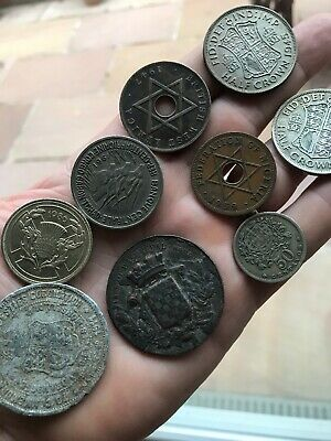 Job Lot Collection Coins, Medals,Tokens and Silver Antique Old Vintage Coins