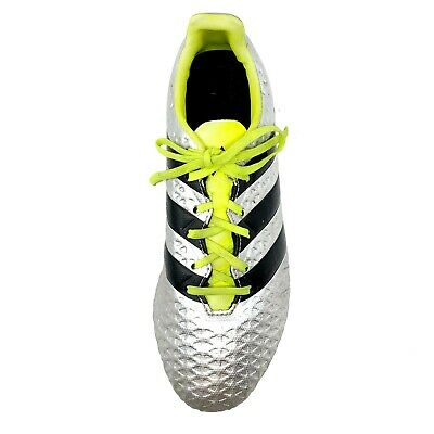 new style f95f4 c1aef ADIDAS ACE 16.4 FxG Football Boot Men 8 Cleats Yellow Silver Black