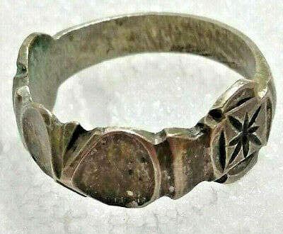 Ancient Viking Old FABULOUS STATUS Ring Runic Ornament VERY RARE