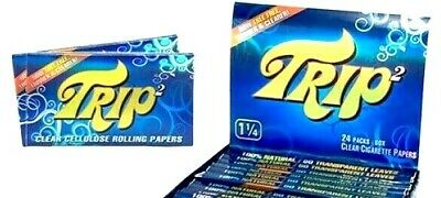 2 Packs Trip 2 Rolling Papers 1 1/4 Trip2 50/Lvs Best Prices USA Shipped