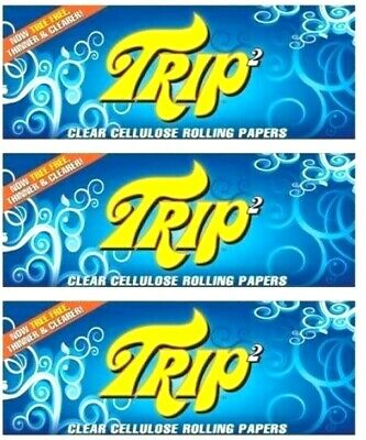 3 Packs Trip 2 Rolling Papers 1 1/4 Trip2 50/Lvs Best Prices USA Shipped