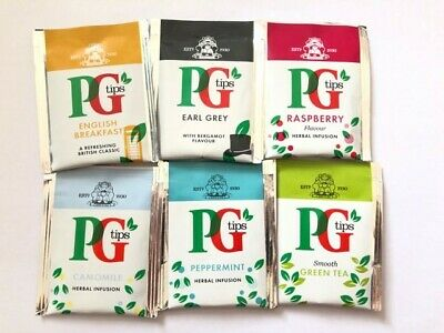 10 x PG Tips Individually Wrapped Envelope Tea Bag Delicious Top Quality Healthy