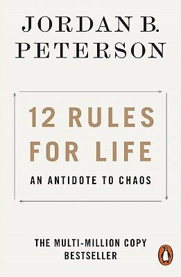 12 Rules for Life: An Antidote to Chaos by Jordan B. Peterson - PAPERBACK - NEW