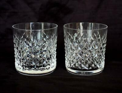 Two Waterford Alana Crystal 3 3/8 9 oz. Old Fashioned