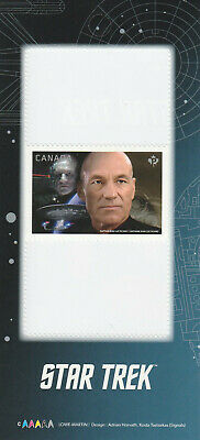 2017 Star Trek - Canada Post Stamp From Booklet - Capt Jean-Luc Picard