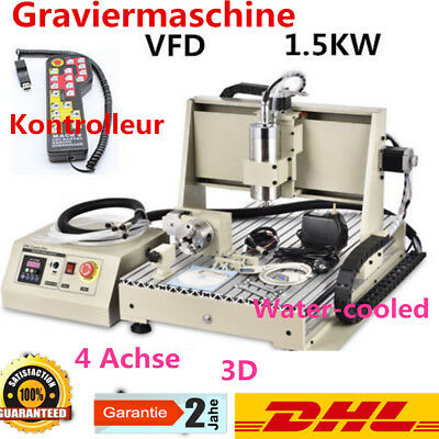 4 Axis 6040 CNC Router 1500W Engraver Milling Carving Engraving Machine+RC 220V
