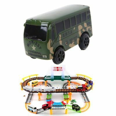 Electronic Rail Track Car Battery Power Educational Toy Gift for Children Kidsx1
