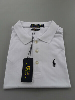 New White Ralph Lauren Polo Shirt 100% Cotton Short Sleeve With Tags