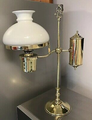 Stunning Sherwood Birmingham Brass Victorian Adjustable Rise And Fall Lamp