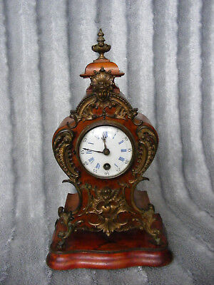 "Antique Mantel Clock in Wooden Case Lenzkirch ""1 Million"" Movement No 316876"