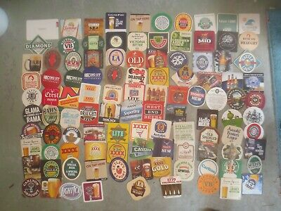 107 different  Australian Breweries  Issued, BEER & CIDER COASTERS  collectable