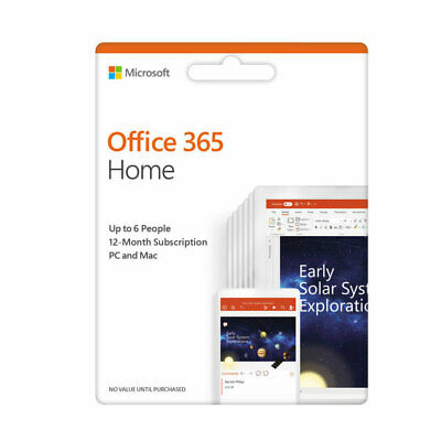 Microsoft Office 365 Home 20191 Year Subscription6 PCs,6 Users/Multi-Device