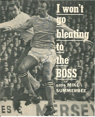 Football Autographs Mike Summerbee Manchester City Signed Magazine Photo F1453