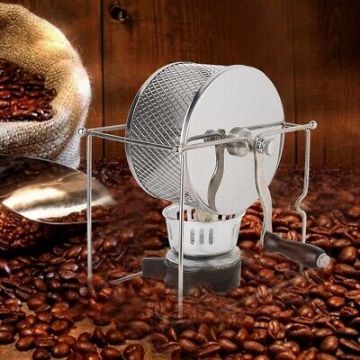 Stainless Steel Rollers Roaster With Handle Manual Coffee Beans Roasting Machine