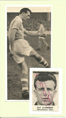 Football Autographs Ray Sambrook Manchester City Signed Photograph Collage F1456