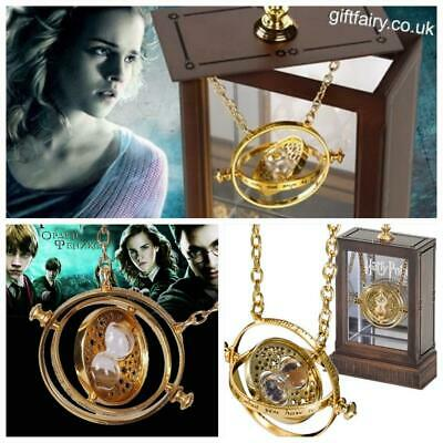 Oficial Original Harry Potter 24K Chapado Hermione Tiempo Tornero Collar Noble