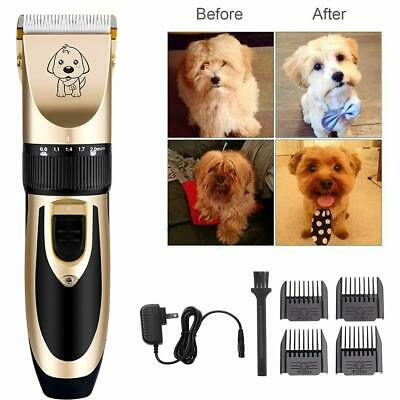 PET DOG CAT CLIPPERS Professional Heavy Duty Trimmer Thick Hair Grooming Kit