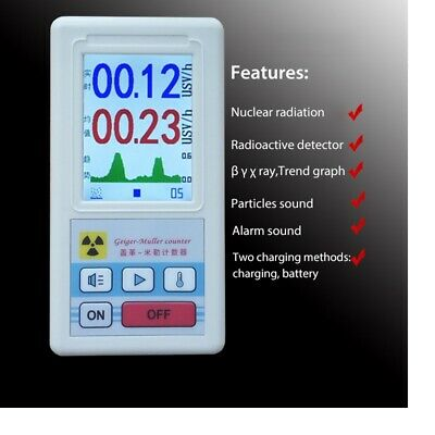 Nuclear Radiation Geiger Counter Radioactive Detector Dosimeter Meter Beta X-ray