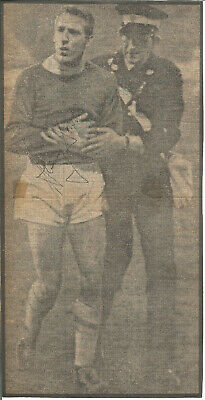 Football Autograph Harry Dowd Manchester City Signed Newspaper Photograph F1467