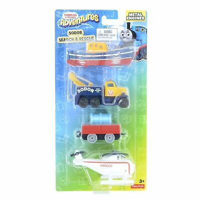 Thomas /& Friends Adventures Sodor Search /& Rescue 4 Pack Die Cast Metal Engines