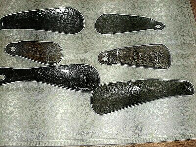 A Collection Of 6 Vintage Metal Advertising Shoe Horns