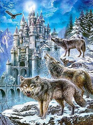 DIY 5D Diamond Painting Full drill Wolf Bear Deer Eagle Fashion Embroidery 1064Y