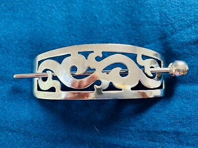 Vintage Taxco Mexican sterling silver hair barrette clip