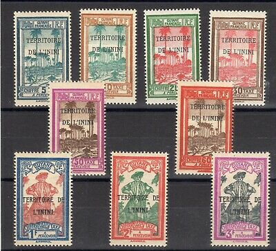 Inini: Serie Complete De 9 Timbres-Taxes Neuf* N°1/9 C: 11,70€