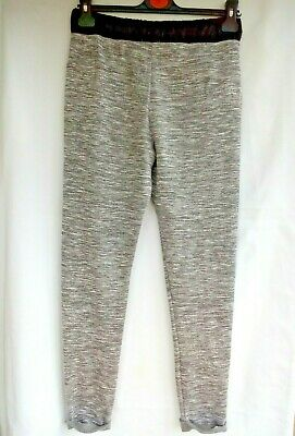 Grey Marl Pull on trousers / track bottoms  by Tesco F & F Age 13 / 14  SMALL