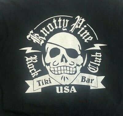 Knotty Pine Rock Club Tiki Bar Cincinnati Ohio Mens XL T Shirt Black