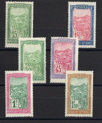 MADAGASCAR: SERIE COMPLETE DE 6 TIMBRES NEUF* N°131/143 Cote: 15,50 €