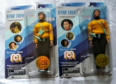 Star Trek Classic 8 Inch Figures. Brand new, Factory sealed. Lt. Zulu and Chekov
