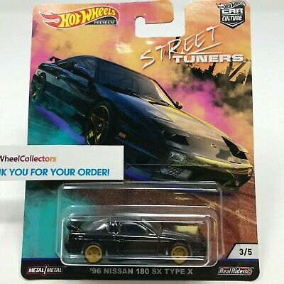 '96 Nissan 180 SX * BLACK * 2019 Hot Wheels STREET TUNERS Car Culture Case L