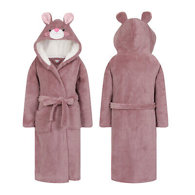 Nifty Kids Novelty Animal Mouse Robes Childs 3D Hooded Dressing Gown Nightwear
