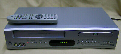 BROKSONIC DVCR-810 DVD/VCR VHS Combo Player w/ Remote CLEANED SERVICED