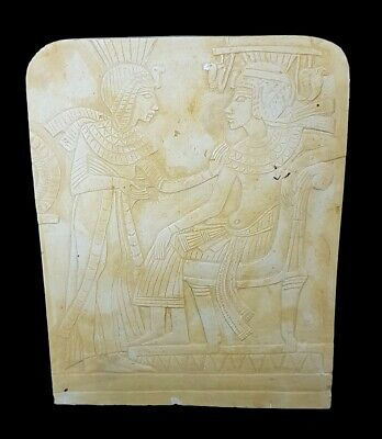 Beautiful Rare Egyptian Antiquity Relief Wall Carving Hieroglyphic Plaque Stela