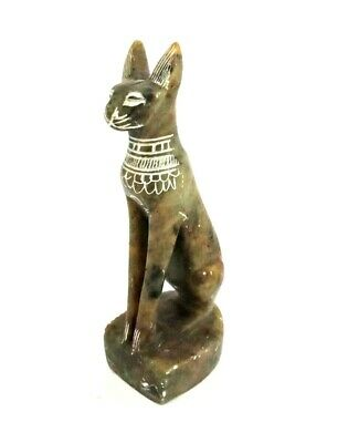 Stunning Stone Bastet Sculpture Very Rare Egyptian Antiques Bast Bead Statue BC