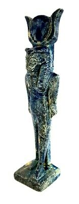 Unique Beautiful Glazed Statuette Khnum Figurine Ancient Egypt Antique Sculpture