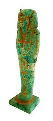Fabulous Egyptian Antique Stone Ushabti Figurine Hieroglyphic Shabti Sculpture