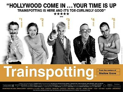 TRAINSPOTTING Film Poster - 90s Movie Poster Wall Bedroom Decor Classic Cult