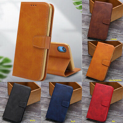 For Apple iPhone XS Max XR X 8 7 6 6s Plus Leather Wallet Card Holder Flip Case