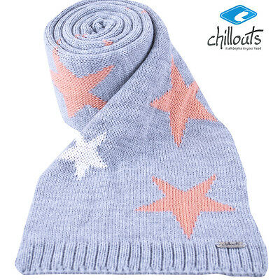 Chillouts Barbara Kid Scarf Boys Knitted Winter Scarf in Grey with Stars New