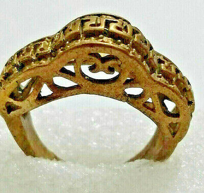 Extremely Ancient Romain Bronze Ring AMAZINGLY DECORATED RING Legionary
